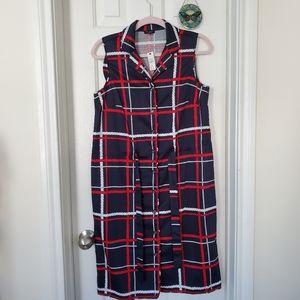 Talbots nautical ropes shirt dress
